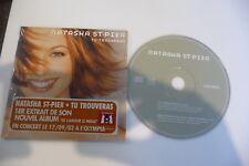 NATASHA ST-PIER CD 2 TITRES POCHETTE CARTONNEE. TU TROUVERAS . OBISPO CALOGERO.