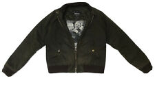 £229 Barbour Steve McQueen MERCHANT Wax Waxed Bomber Jacket Olive Size Large L