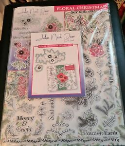 John Next Door Floral Christmas Clear Stamps and 2 Outline Dies