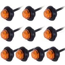10X Amber LED Bullet Boat Truck Trailer Side Marker Turn signals Light 12V Lamp