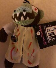 2 Yarn Zombies 1 Juju Monkey Doctor & 1 Cheerleader Muffy doll + Zombie sticker
