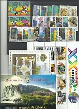 SAN  MARINO  -  MNH**  ANNATA  2000  27  VALORI   2 FOG. 1 LIBRETTO    NUOVA