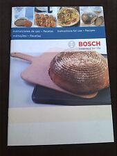 Bosch  Backstein -  Gebrauchsanleitung +   Rezepte  *2010* ES , PT, EN