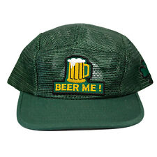 St. Patrick's Day Beer Me 5 Panel Snapback Hat Clover leaf shamrock gold irish