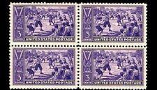 #855 1939 3 cent Baseball Centennial Block of 4 Vintage U.S. Postage Stamps
