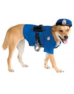 Pet Costume Blue Police Officer K-9 Big Dog Costume