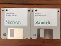 Vtg 1993 Macintosh Quadra 605 OS Disk Tools Software Install Mac Floppy Disks
