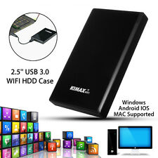 2.5'' USB 3.0 WIFI SATA HDD Case Hard Drive Enclosure NAS Network Share Storage