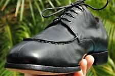 PRADA Man's Black  Lace Up Leather stitched toe line Oxford Shoes Brand Size 9