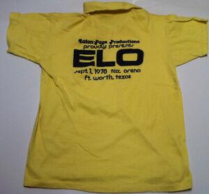 ELECTRIC LIGHT ORCHESTRA ELO 1978 TCC Vintage Original Concert Tour Crew T-Shirt