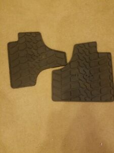 Jeep Liberty All Weather Rear Floor Mats  Rubber 82210784 82210785 OEM Mopar