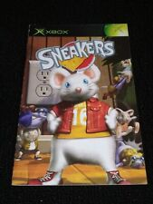 Sneakers ORIGINAL Microsoft Xbox 2002 AUTHENTIC Instruction Manual/Booklet ONLY