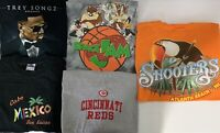 Lot Of (5) Mens Vintage T Shirt Lot Size M Space Jam Baseball Sports Location