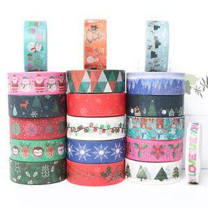 Christmas Washi Tape Masking Sticker Scrapbooking Stationery Card Decor Crafts