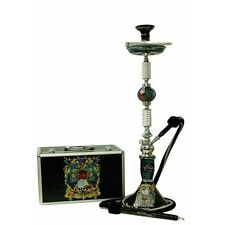 "35"" 1 Hose Ed Hardy Signature Hookah with Case Black"