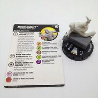 Heroclix Avengers Defenders War set Moon Knight #062 Super Rare figure w/card!!