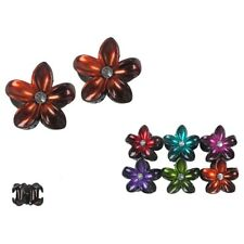 12pcs Women Hair Claw Flower Rhinestone Jaw Clip Clamp Comb Hawaiian Hawaii Lot