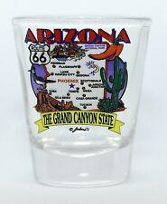 ARIZONA  STATE ELEMENTS MAP SHOT GLASS SHOTGLASS
