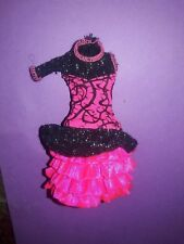 Monster High Doll Clothes Ghouls Night Out Venus Pink & Black Dress