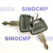 Kobelco K250 Ignition Keys 2PCS For Excavator Heavy Equipment w/ OEM Logo