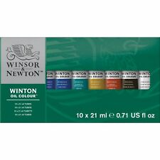 Winsor  Newton Winton Oil Colors Set - Basic 10 Color Set. (Packaging may vary)