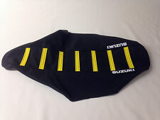 """New """"Suzuki"""" Black/Yellow Ribbed Seat cover DR-Z400E DR-Z400S DR-Z400SM 2000-15"""