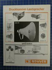 Bouyer sala de impresión altavoz folleto h2437