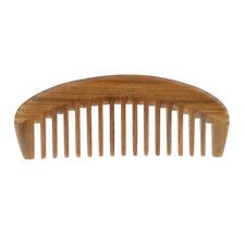 Green Sandalwood Detangling Wide Tooth Massage Handmade Hair Comb No Static