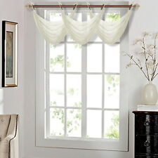 "1PC ELEGANCE WATERFALL SHEER VALANCE WINDOW CURTAIN TREATMENT 55""W x 24""L K36"