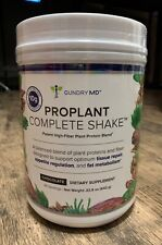 New Sealed Dr GUNDRY'S Proplant Complete Shake 22.6 oz Chocolate 20 servings