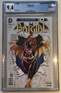 Batgirl #0 CGC 9.4 White Pages 2012 Ed Benes Cover