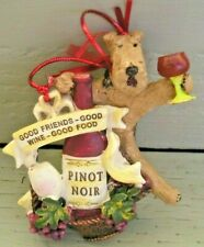 Airedale Terrier Pinot Noir Wine Ornament!