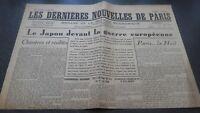Journal the Last European Nouvelles Monday 1ER July 1940 Japan Front La Guerre