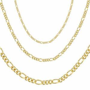"""Damen Herren """"FIGARO"""" Kette 2,3,4,5 mm 24 Karat Gold vergoldet DJADEE K6077D1"""