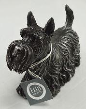 Superb Large Brushed Silver Scottish Terrier Statue/Ornament - Scottie Dog Gift
