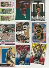 GEORGE ICE MAN GERVIN LOT (37) DIFFERENT W/ #'D 24 NSERTS 80-81 TOPPS PRIZM