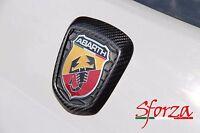 Abarth 500 595 cornice stemma posteriore carbonio cover
