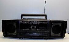 Vintage JVC PC-W 100 Cassette Stereo Radio Boombox Black Detachable Wired Speake