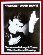 "DAVID BOWIE - Individual Concert Tour Posters Trading Card - Card #08 - ""Heroes"""