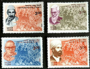 INDIA 1999 FREEDOM FIGHTERS BUILDERS OF MODERN INDIA 4v SET  MNH