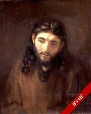 REMBRANDT HEAD PORTRAIT OF JESUS CHRIST PAINTING HISTORY ART REAL CANVAS PRINT