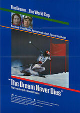 THE DREAM NEVER DIES orig 1980 movie poster DOWNHILL SKIING/WORLD CUP/KEN READ