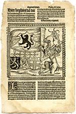 Rare Antique Print-FLANDERS-FLAG-COAT OF ARMS-MAXIMILIAN-Doppere-Vorsterman-1531