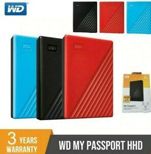 💽 WD My Passport SLIM Portable External Mobile Hard Drive Disk PS4 PS5 USB 3.0
