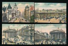 LONDON  central  x4 c1900s busy street scenes PPCs by Regent Publishing