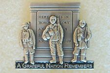 US USA A Greatful Nation Remembers Patriotic Hat Lapel Pin