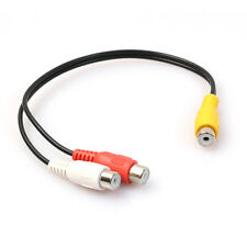 3.5mm Stereo Jack Male to 2 RCA Phono Female Y Splitter Audio Aux Cable Adapter