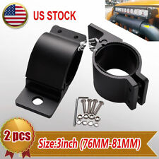 """3"""" INCH LED LIGHT MOUNTS OFFROAD BULL BAR 4X4WD MOUNTING BRACKETS HOLDERS CLAMP"""