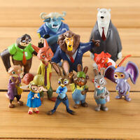 Disney Zootopia/Zootropolis Action Figure 12 pcs Doll Set Judy Nick Cake Topper