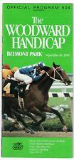 EASY GOER - 1989 WOODWARD HANDICAP HORSE RACING PROGRAM FROM BELMONT PARK!